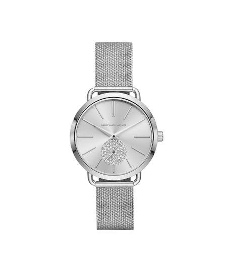 1acd6923f Menor preço em Relógio Michael Kors Feminino Essential Portia Prata -  MK3843/1KN