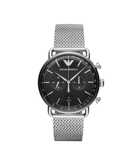 8a59deba3e2 Relógio Empório Armani Masculino Classic Aviator Prata - AR11104 1KN - cea