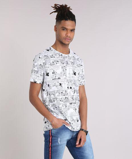 Camiseta-Masculina-Estampada-de-Quadrinhos-Mickey-Manga-Curta-Gola-Careca-Branca-9107960-Branco_1