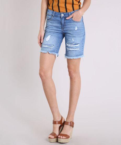 Bermuda-Jeans-Feminina-Destroyed-Azul-Medio-9217843-Azul_Medio_1