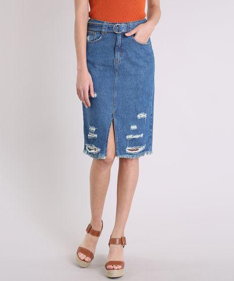 Saia-Jeans-Feminina-Midi-Destroyed-com-Cinto-Azul-Medio-9217867-Azul_Medio_1