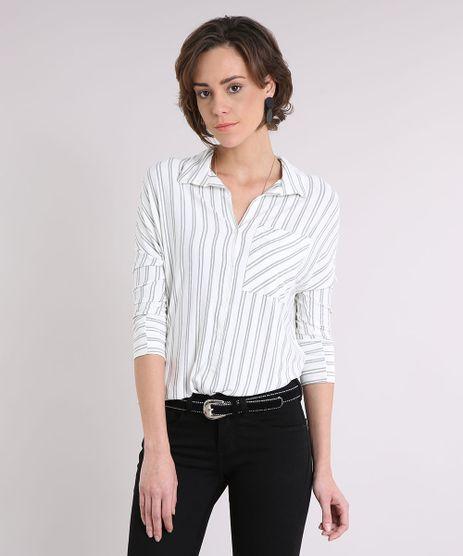 Camisa-Feminina-Listrada-com-Bolso-Manga-Longa--Off-White-9245743-Off_White_1