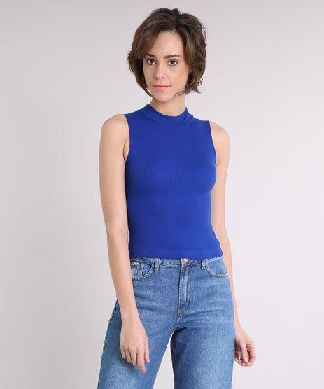 Regata-Feminina-Cropped-Gola-Alta-Basica-Canelada-Azul-Royal-8715489-Azul_Royal_1