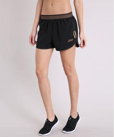 8ba68b465 Short Feminino Running Esportivo Ace com Bolso Preto - cea