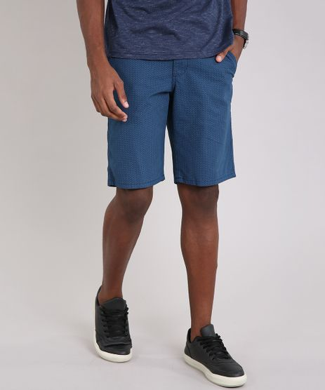 Bermuda-Masculina-Reta-Estampada-Mini-Print-Azul-8676959-Azul_1