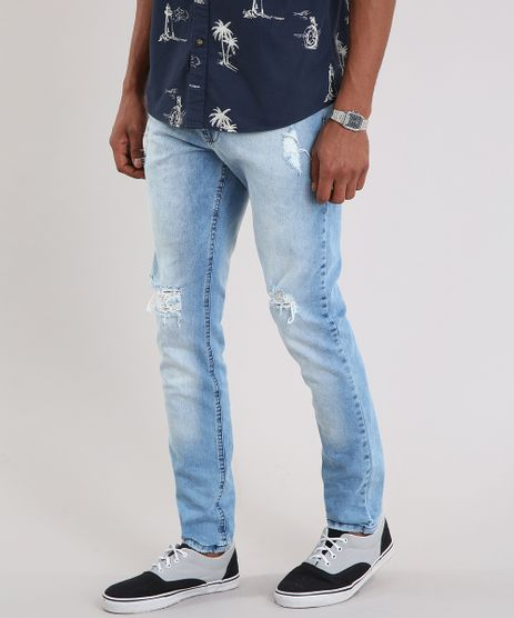 Calca-Jeans-Masculina-Slim-Destroyed-Azul-Claro-9203008-Azul_Claro_1