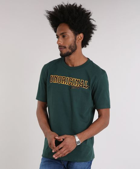 Camiseta-Masculina--Unoriginal--Manga-Curta-Gola-Careca-Verde-9215673-Verde_1