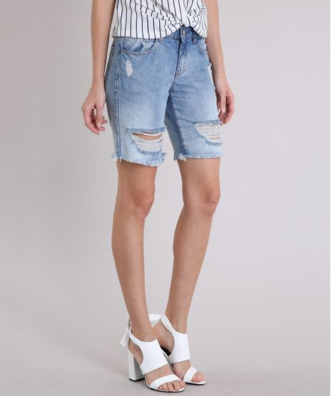 Bermuda-Jeans-Feminina-Destroyed-Azul-Claro-9217842-Azul_Claro_1