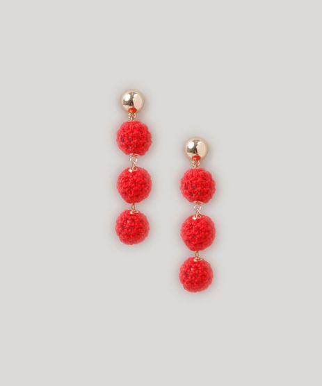 Brinco-Feminino-com-Esferas-em-Croche-Dourado-9207503-Dourado_1