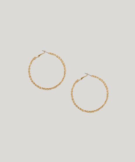 Brinco-Feminino-de-Argola-Texturizada-Dourado-9207473-Dourado_1