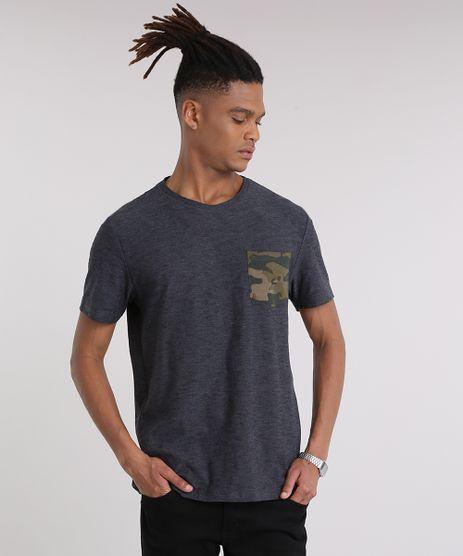 Camiseta-Masculina-com-Bolso-Estampado-Camuflado-Manga-Curta-Gola-Careca-Cinza-Mescla-Escuro-9210878-Cinza_Mescla_Escuro_1