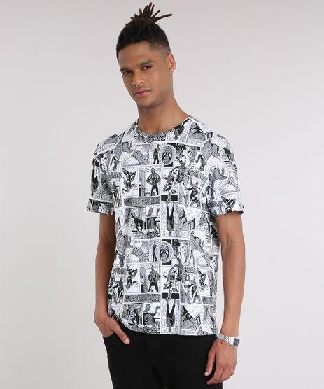 Camiseta-Masculina-Estampada-de-Quadrinhos-Homem-Aranha-Manga-Curta-Gola-Careca-Off-White-8758239-Off_White_1