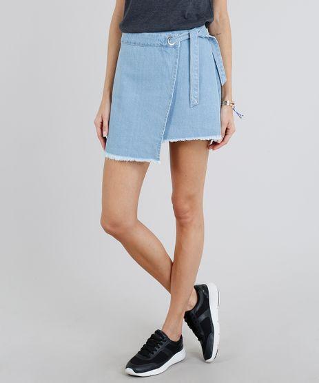 Saia-Jeans-Feminina-Envelope-com-Amarracao-Azul-Claro-9209353-Azul_Claro_1
