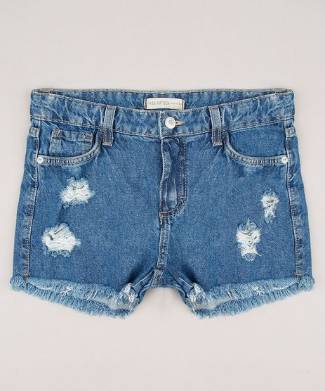 Short-Jeans-Infantil-Destroyed-Azul-Medio-9228919-Azul_Medio_1