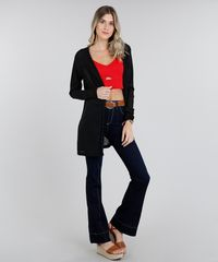 50870d8c1 Calça Jeans Feminina Flare Sawary com Friso Azul Escuro - ceacollections