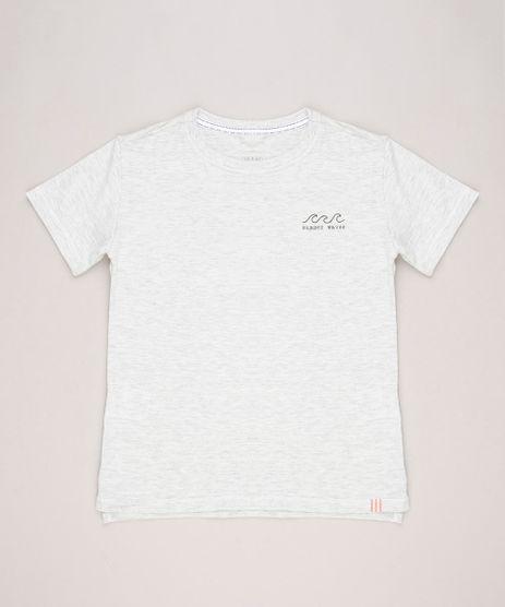 Camiseta-infantil-com-Estampa-de-Coqueiros-Manga-Curta-Gola-Careca-Cinza-Mescla-Claro-9233780-Cinza_Mescla_Claro_1