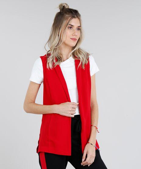 Colete-Feminino-Longo-com-Fendas-Vermelho-9181262-Vermelho_1