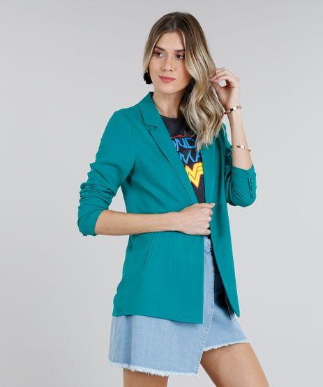 Blazer-Feminino-Reto-Gola-Tailleur-Manga-Longa-Verde-9181377-Verde_1