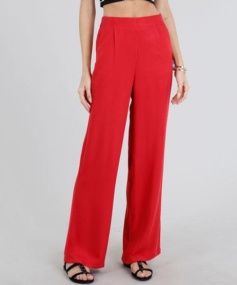 Calca-Feminina-Pantalona-com-Bolsos-Vermelha-9182726-Vermelho_1