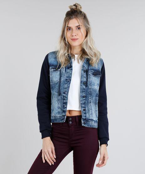 Jaqueta-Jeans-Feminina-com-Capuz-Removivel-em-Moletom-Azul-Escuro-9116723-Azul_Escuro_1