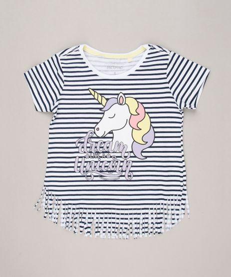 Blusa-Infantil-Listrada-Unicornio-com-Glitter-Manga-Curta-Decote-Redondo-em-Algodao---Sustentavel-Off-White-9238736-Off_White_1