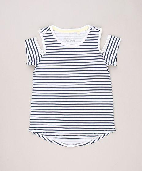 Blusa-Infantil-Open-Shoulder-Listrada-Mullet-Manga-Curta-Decote-Redondo-em-Algodao---Sustentavel-Off-White-9238394-Off_White_1