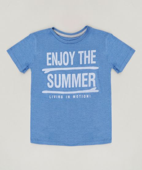 Camiseta-Infantil--Enjoy-The-Summer--Manga-Curta-Gola-Careca-Azul-9233848-Azul_1