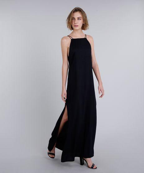 Vestido-Longo-com-Fendas-e-Recorte-Alcas-Finas-Preto-9283000-Preto_1