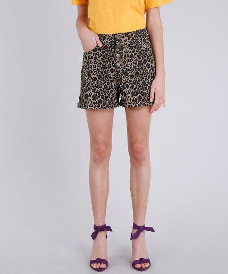 Short-Feminino-Estampado-Animal-Print-Onca-Marrom-Claro-9295825-Marrom_Claro_1
