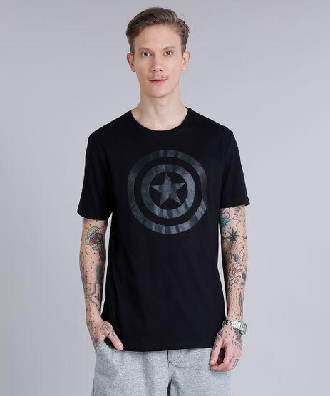 Camiseta-Masculina-Capitao-America-Manga-Curta-Gola-Careca-Preto-8731488-Preto_1