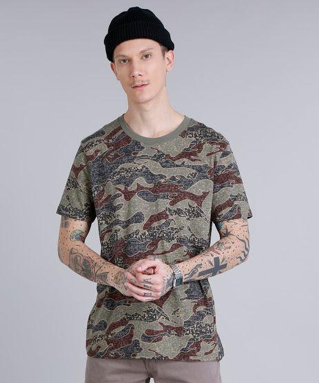 Camiseta-Masculina-Estampada-Camuflada-Manga-Curta-Gola-Careca--Verde-Militar-9194382-Verde_Militar_1