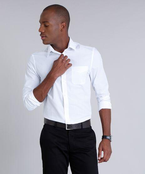 Camisa-Masculina-Comfort-com-Bolso-Manga-Longa-Branca-7591834-Branco_1