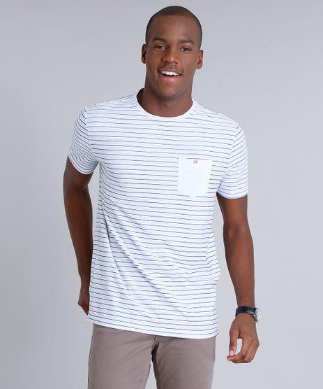 Camiseta-Masculina-Listrada-com-Bolso-Manga-Curta-Gola-Careca-em-Algodao---Sustentavel-Branca-9028741-Branco_1