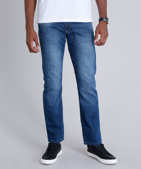 Calca-Jeans-Masculina-Reta-com-Bolsos-Azul-Escuro-9258205-Azul_Escuro_1