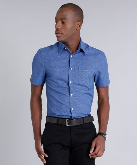 Camisa-Masculina-Comfort-Maquinetada-com-Bolso-Manga-Curta-Azul-9093239-Azul_1