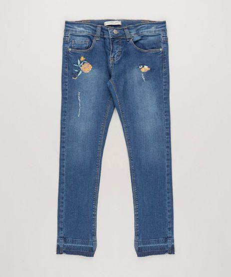 Calca-Jeans-Infantil-com-Bordados-e-Bolsos-Azul-Escuro-9152046-Azul_Escuro_1