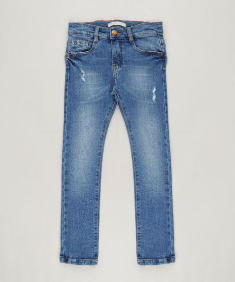 Calca-Jeans-Infantil-Skinny-com-Puidos-e-Bolsos-Azul-Escuro-9240111-Azul_Escuro_1