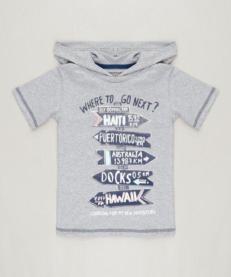 Camiseta-Infantil--Where-to-Go-Next---Manga-Curta-com-Capuz-Cinza-Mescla-9236952-Cinza_Mescla_1