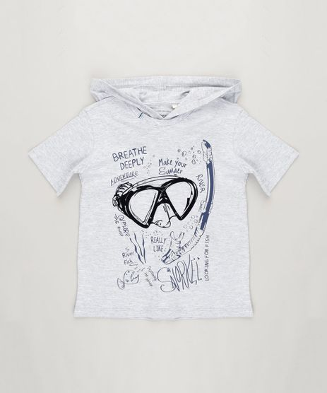Camiseta-Infantil-Mergulhador-Manga-Curta-com-Capuz-Cinza-Mescla-Claro-9239848-Cinza_Mescla_Claro_1