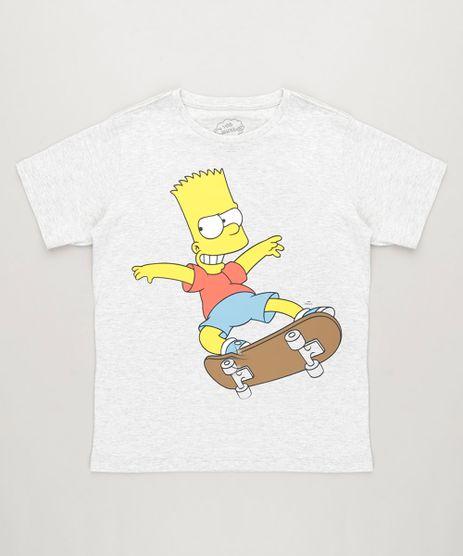 Camiseta-Infantil-Bart-Simpson-Manga-Curta-Gola-Careca-Cinza-Mescla-Claro-9231738-Cinza_Mescla_Claro_1