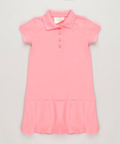 Vestido-Polo-Infantil-Curto-com-Pregas-e-Bordado-Manga-Curta-em-Piquet-Rosa-9214119-Rosa_1