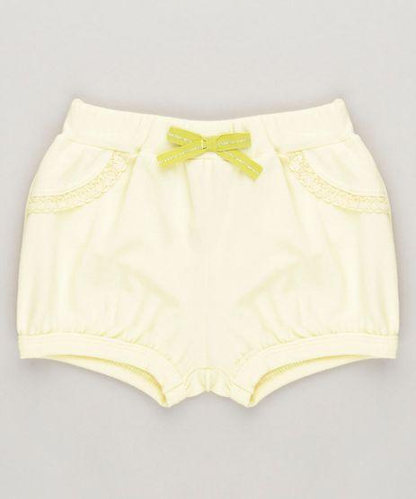 Short-Infantil-com-Laco-em-Algodao---Sustentavel-Amarelo-9230410-Amarelo_1