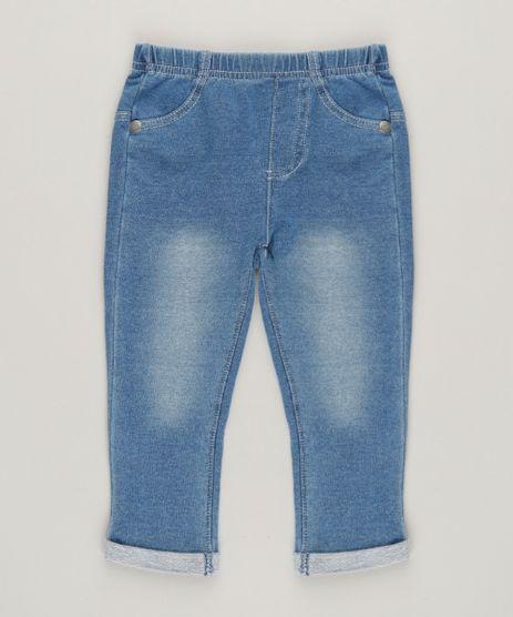Calca-Jeans-Infantil-com-Barra-Dobrada-em-Moletom-e-Algodao---Sustentavel-Azul-Medio-9114247-Azul_Medio_1