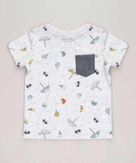 Camiseta-Infantil-Estampada-com-Bolso-Manga-Curta-Gola-Careca-Cinza-Mescla-Claro-9227419-Cinza_Mescla_Claro_1