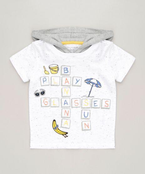 Camiseta-Infantil-com-Estampa-Interativa-de-Praia-e-Capuz-Manga-Curta-Gola-Careca-Off-White-9227478-Off_White_1
