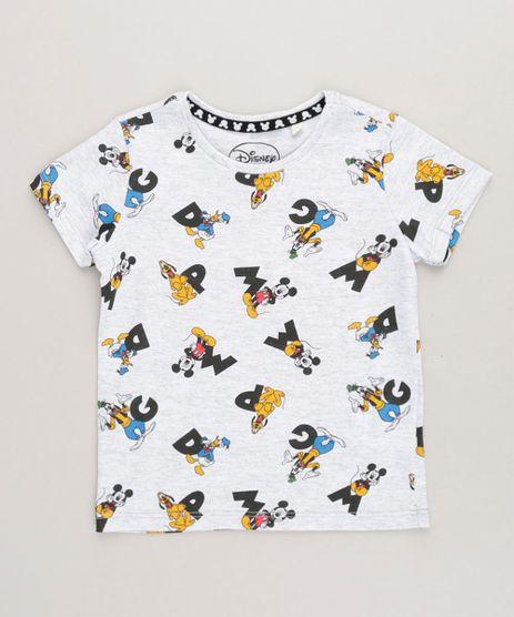 Camiseta-Infantil-Estampada-Turma-do-Mickey-Manga-Curta-Gola-Careca-Cinza-Mescla-Claro-9233522-Cinza_Mescla_Claro_1