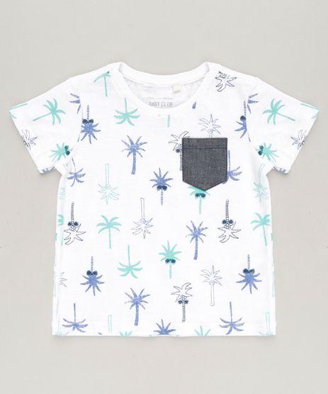 Camiseta-Infantil-Estampada-de-Coqueiro-com-Bolso-Manga-Curta-Gola-Careca-Off-White-9228459-Off_White_1