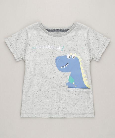 Camiseta-Infantil-Dinossauro-com-Bolso-e-Bordado-Manga-Curta-Gola-Careca-Cinza-Mescla-Claro-9227806-Cinza_Mescla_Claro_1