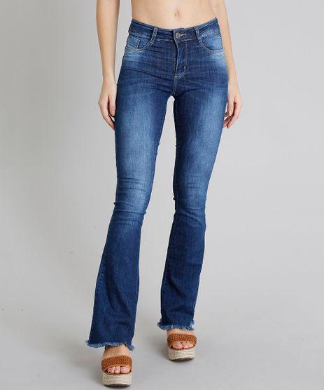 Calca-Jeans-Feminina-Sawary-Flare-Barra-Desfiada-Azul-Escuro-9106141-Azul_Escuro_1