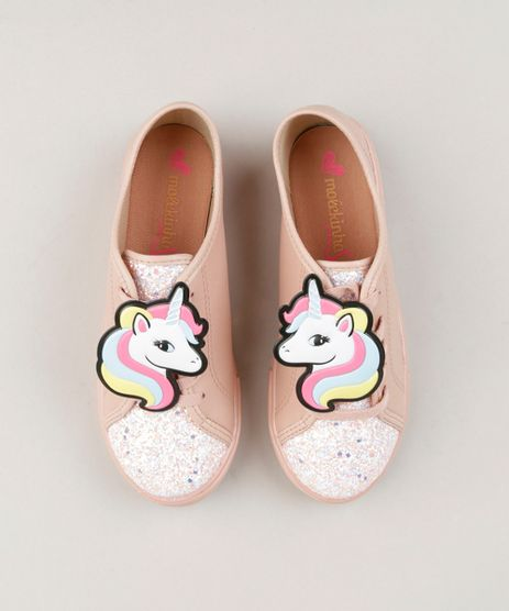 Tenis-Infantil-Molekinha-de-Unicornio-com-Glitter-Rose-9267215-Rose_1